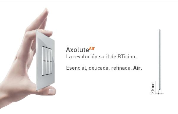 Nueva gama de mecanismos Axolute Air, de BTicino