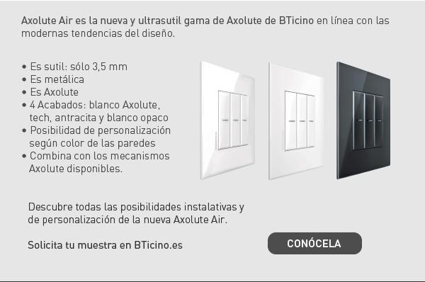 Axolute Air, la revolución sutil en mecanismos BTicino.