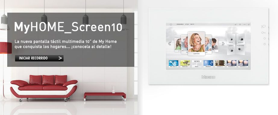 Nueva MyHome Screen 10 de bticino