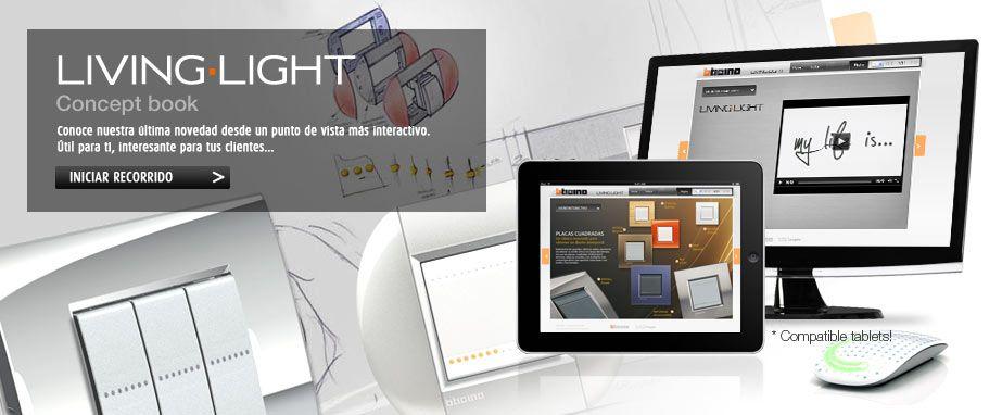 Concept Book de los nuevos mecanismos LIVINGLIGHT de Bticino 2012