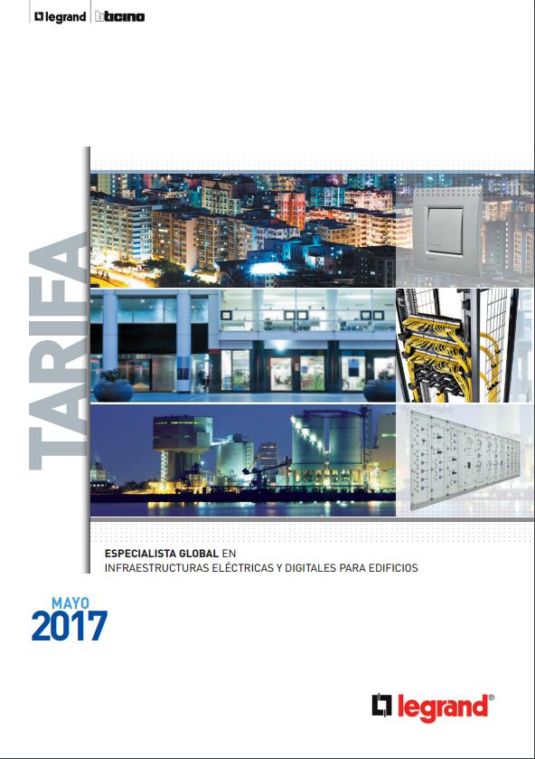 Tarifa General Legrand Group España 2017/Mayo
