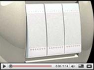 Nuevos acabados en mecanismos de diseño Livinglight, de BTicino