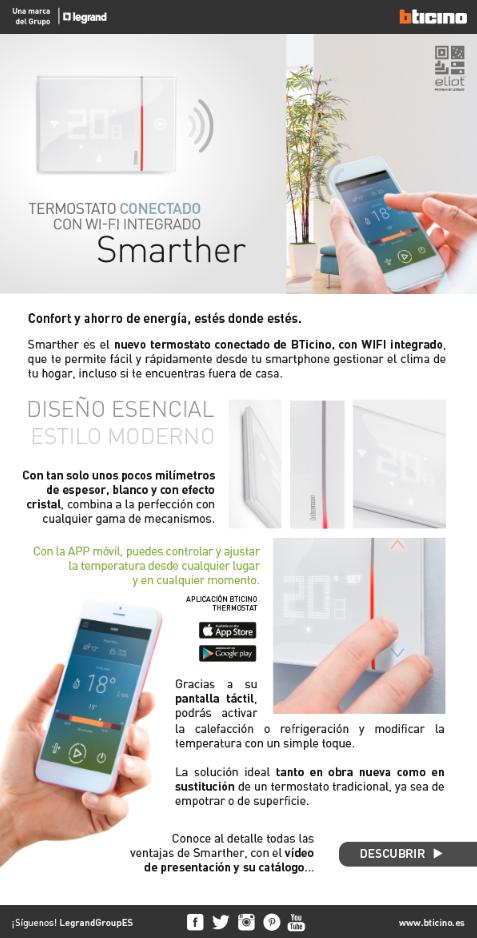 Smarther: Termostato conectado con WI-FI integrado