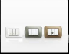 Serie de mecanismos e interruptores Luna de BTicino