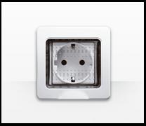 Serie de mecanismos,  interruptores y enchufes Màtix de Bticino. Matix residencial