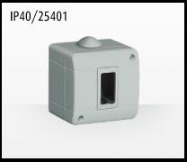 Porta mecanismos y mecanismos eléctricos e Idrobox de Bticino: IP40/25401