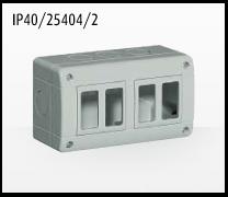 Porta mecanismos y mecanismos eléctricos e Idrobox de Bticino: IP40/25402-2