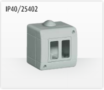 Porta mecanismos y mecanismos eléctricos e Idrobox de Bticino: IP40/25402