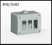 Porta mecanismos y mecanismos eléctricos e Idrobox de Bticino: IP40/25403
