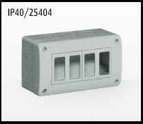 Porta mecanismos y mecanismos eléctricos e Idrobox de Bticino: IP40/25404