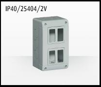 Porta mecanismos y mecanismos eléctricos e Idrobox de Bticino: IP40/25404_2V