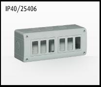 Porta mecanismos y mecanismos eléctricos e Idrobox de Bticino: IP40/25406