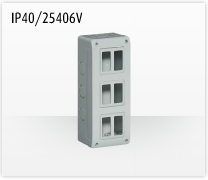 Porta mecanismos y mecanismos eléctricos e Idrobox de Bticino: IP40/25406V