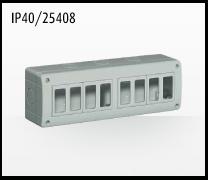 Porta mecanismos y mecanismos eléctricos e Idrobox de Bticino: IP40/25408