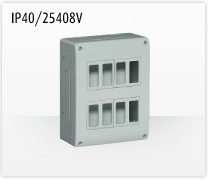 Porta mecanismos y mecanismos eléctricos e Idrobox de Bticino: IP40/25408V