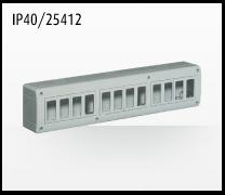 Porta mecanismos y mecanismos eléctricos e Idrobox de Bticino: IP40/25412