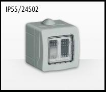 Porta mecanismos y mecanismos eléctricos e Idrobox de Bticino: IP55/24502