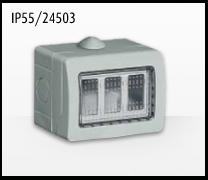 Porta mecanismos y mecanismos eléctricos e Idrobox de Bticino: IP55/24503