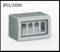 Porta mecanismos y mecanismos eléctricos e Idrobox de Bticino: IP55/24504