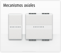 Serie de mecanismos y interruptores axiales LIVINGLIGHT de BTicino