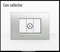 Serie de mecanismos e interruptores LIVINGLIGHT con pulsador selector de BTicino
