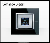 SSerie de mecanismos e interruptores para domótica axolute comando digital de BTicino