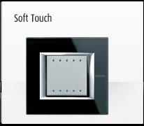 Serie de mecanismos, interruptores e interfaces para domótica axolute Soft Touch de BTicino