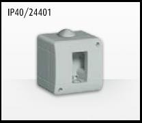 Porta mecanismos y mecanismos eléctricos e Idrobox de Bticino: IP40/24401