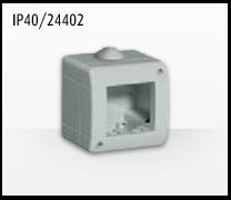 Porta mecanismos y mecanismos eléctricos e Idrobox de Bticino: IP40/24402