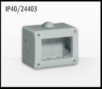 Porta mecanismos y mecanismos eléctricos e Idrobox de Bticino: IP40/24403