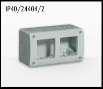 Porta mecanismos y mecanismos eléctricos e Idrobox de Bticino: IP40/24404/2