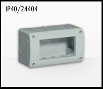 Porta mecanismos y mecanismos eléctricos e Idrobox de Bticino: IP40/24404