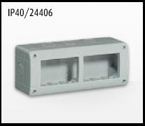 Porta mecanismos y mecanismos eléctricos e Idrobox de Bticino: IP40/24406