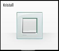 Serie de mecanismos  e interruptores LIVINGLIGHT de BTicino. Acabados Kristall