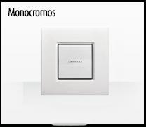 Serie de mecanismos  e interruptores LIVINGLIGHT de BTicino. Acabados Monocromos