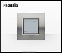 Serie de mecanismos  e interruptores LIVINGLIGHT de BTicino. Acabados Naturalia