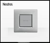 Serie de mecanismos  e interruptores LIVINGLIGHT de BTicino. Acabados Neutros