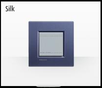 Serie de mecanismos  e interruptores LIVINGLIGHT de BTicino. Acabados Silk