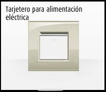 Domotica MyHome y la Serie de mecanismos e interruptores LIVINGLIGHT de BTicino, tarjetero alimentación eléctrica para hoteles