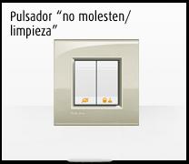 Domotica MyHome y la Serie de mecanismos Livinglight de BTicino, pulsador no molesten /limpieza para hoteles