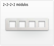 Serie de mecanismos e interruptores Luna de Bticino: 2+2+2+2 Módulos