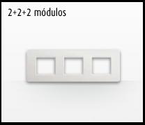 Serie de mecanismos e interruptores Luna de Bticino: 2+2+2 Módulos