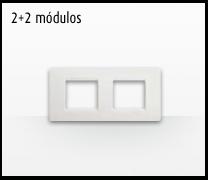 Serie de mecanismos e interruptores Luna de Bticino: 2+2 Módulos