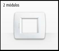 Serie de mecanismos e interruptores Luna de Bticino: 2 Módulos