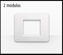 Serie de mecanismos e interruptores Luna de Bticino: 2 Módulos versión 2