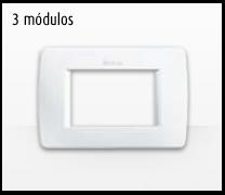 Serie de mecanismos e interruptores Luna de Bticino: 3 Módulos