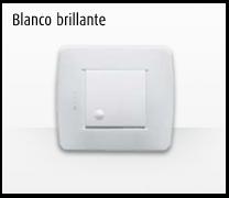 Serie de mecanismos e interruptores Luna de Bticino: Blanco brillante