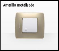 Serie de mecanismos e interruptores Luna de Bticino: Amarillo Metalizado