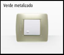 Serie de mecanismos e interruptores Luna de Bticino: Verde Metalizado