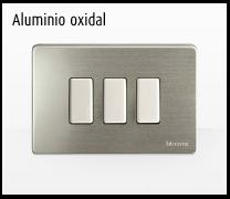 Serie de mecanismos y interruptores Magic de BTicino. Aluminio Oxidal